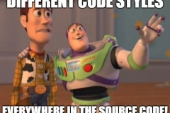 Different code styles