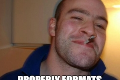 Good guy Greg formats code