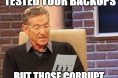 Maury test backups