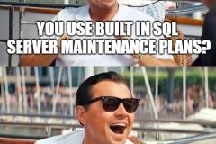 SQL maintenance plans
